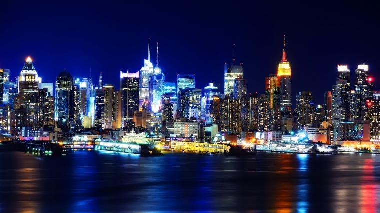New York City at Night Wallpaper HD wallpaper background