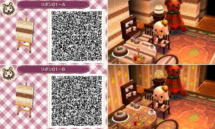 Animal Crossing New Leaf QR codes wallpaper furniture pattern