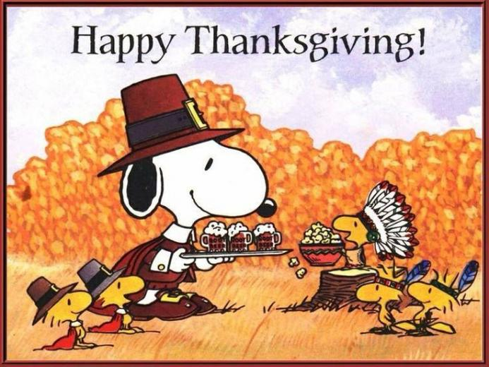 Thanksgiving Peanuts Gang Pinterest