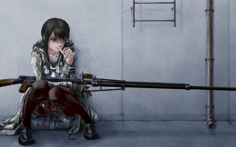 Anime Sniper Girl HD Wallpaper Desktop PC Background
