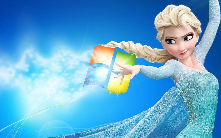 Disney Frozen Elsa Windows 7 Wallpaper Coisas para usar Pinterest