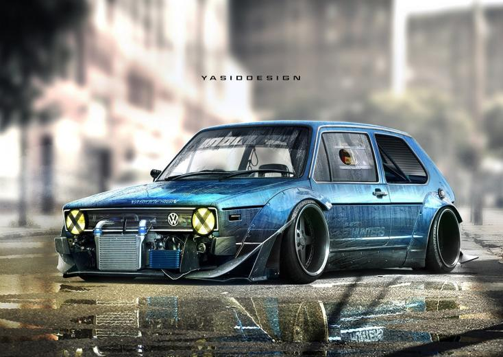YASIDDESIGN Car Render Artwork Tuning Volkswagen Golf