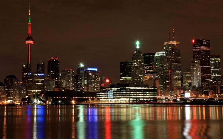 Toronto City Skyline At Night Wallpaper 1440x900 pixel City HD