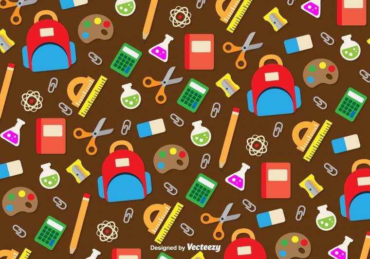 School utensils icons background   Download Vector