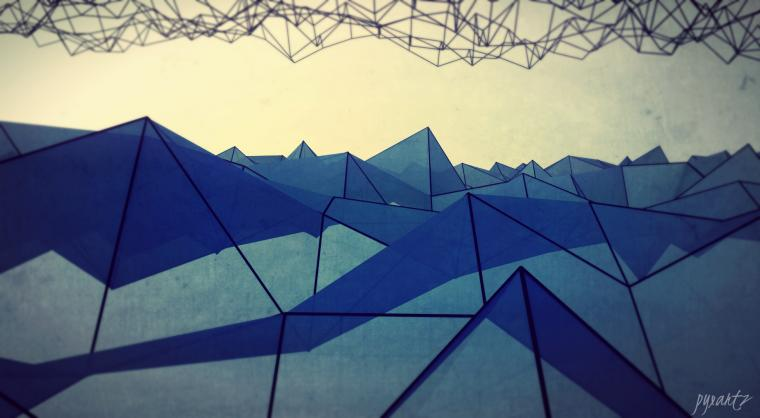 Theme Bin Blog Archive Abstract Polygons HD Wallpaper