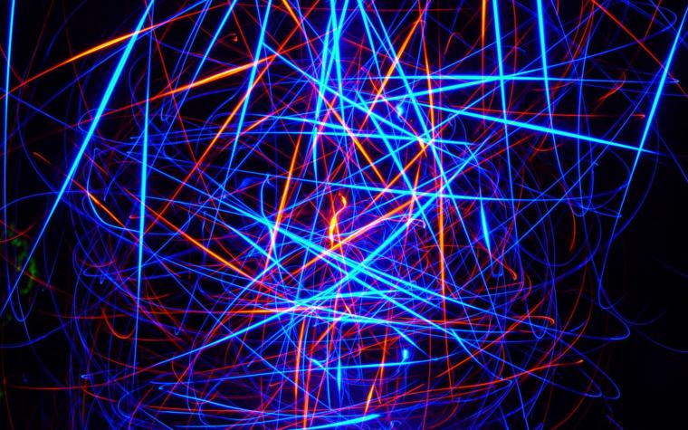 HD Background Glowing Lines Neon Light Stripes Patterns