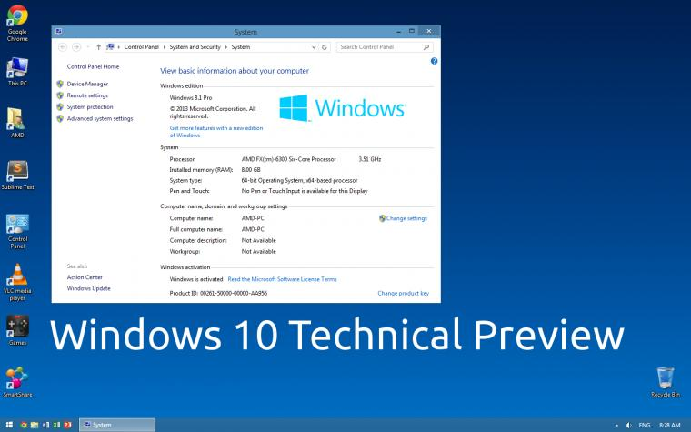 Windows 10 Technical Preview wallpaper by paladin324