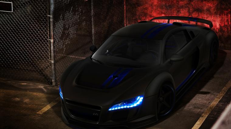 Wallpaper audi r8 black black tuning cars large 1920x1080 on the