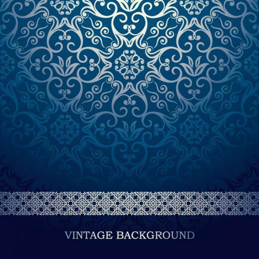 Vintage Blue Pattern Background Vector Vector Graphic Download