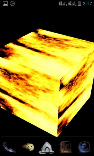 Download 3D Fire Cube Live Wallpaper for your Android phone