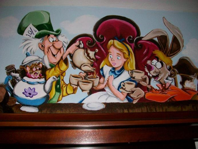 Alice in Wonderland   Mural 04 by wicked