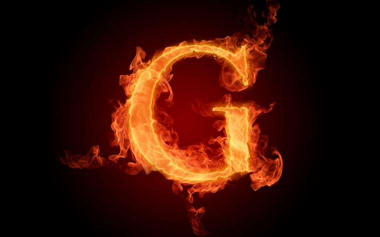 The fiery English alphabet picture G Wallpapers   HD Wallpapers 73621