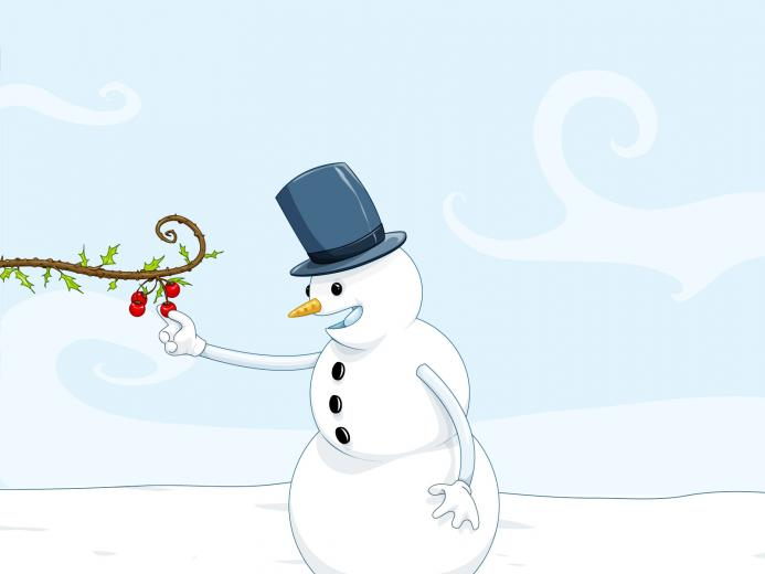 Cute Snowman Winter HD Wallpapers Desktop Wallpapers