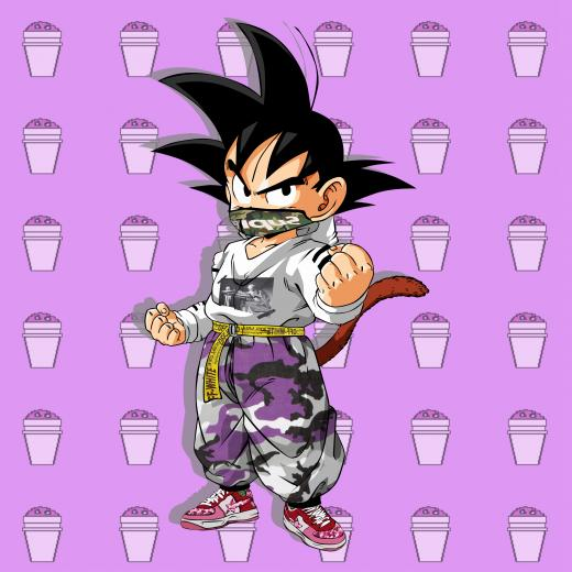 HYPEBEAST GOKU LEAN BACKGROUND Off White Bape Supreme Dope