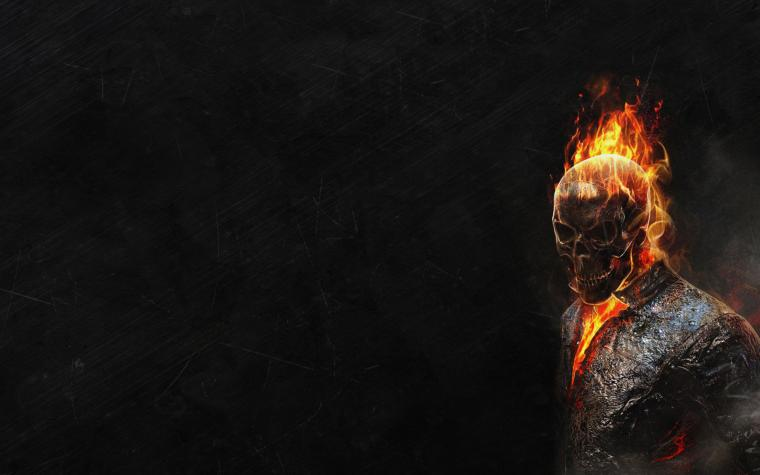 Ghost Rider HD Wallpapers Black background scary face