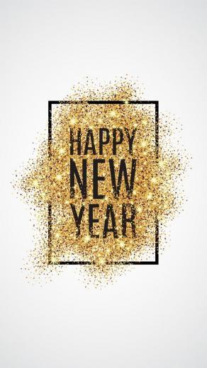 iPhone X Wallpaper Happy New Year 2018 2020 3D iPhone Wallpaper