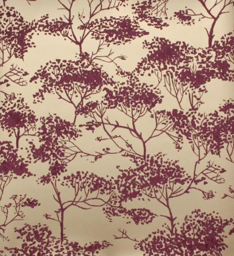 Tivoli woods wallpaper Tree design in shades of light burgundy on a