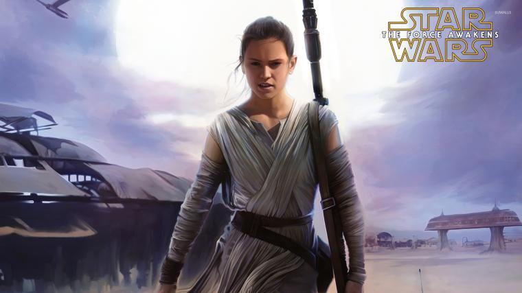 Rey in Star Wars The Force Awakens wallpaper   Movie
