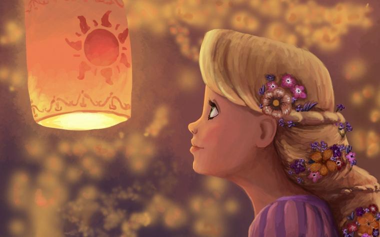 Download Cartoon Rapunzel wallpaper in 3D   Abstract wallpapers with