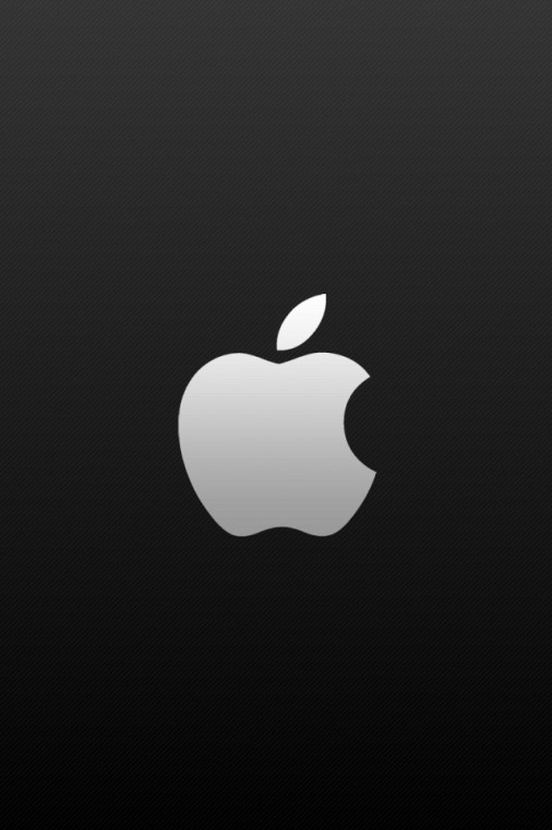 Black background and white apple logo iPhone wallpapers Background