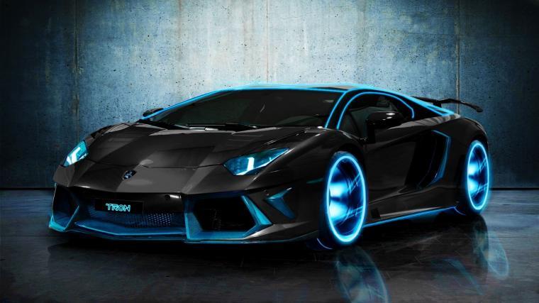 Download TRON Lamborghini Aventador HD Widescreen Lamborghini