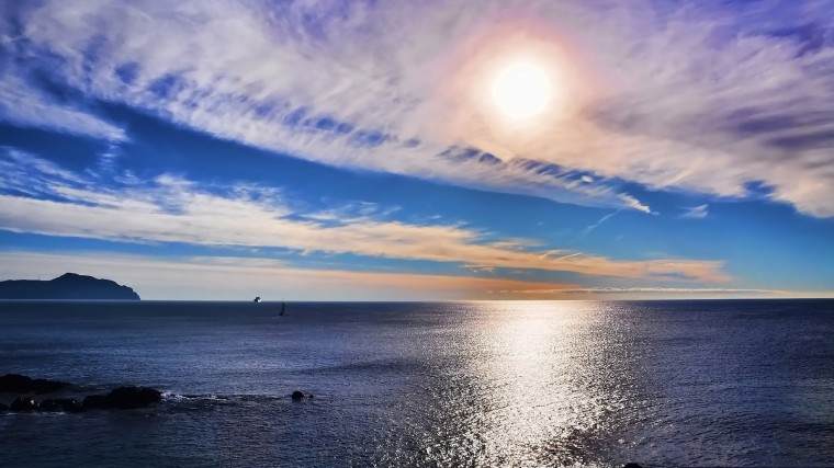 Seascape Sunset Full HD Nature Desktop Wallpaper for Laptop Widescreen