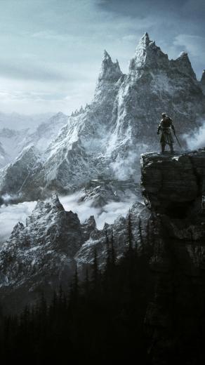 Wallpaper Games RPG Skyrim RPG mountains warrior game 4k