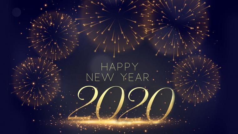 download Welcome New Year 2020 Desktop Widescreen Wallpaper