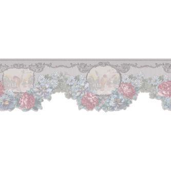 Light Grey Floral Border   Tools   Painting Supplies   Wallpaper