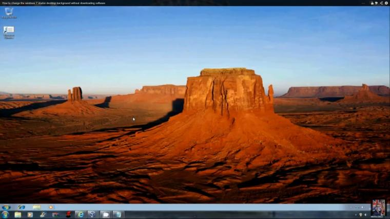 How to change the windows 7 starter desktop background without