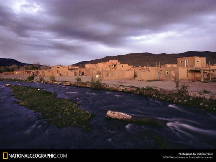 New Mexico Taos Pueblo 1976 Photo of the Day Picture Photography
