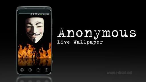 Download Anonymous Live Wallpaper for Android by Death Star Apps