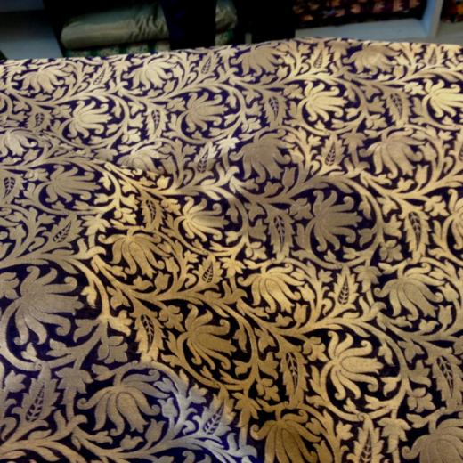 Royal purple with Gold brocade Fabrics Pinterest
