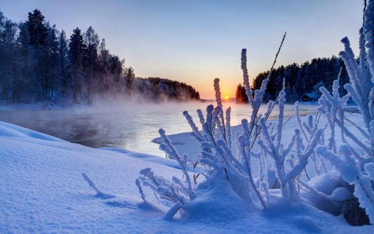 Beautiful Winter Sunset Scenery HD Wallpapers