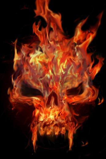 Go Back Images For Green Flaming Skull Wallpaper