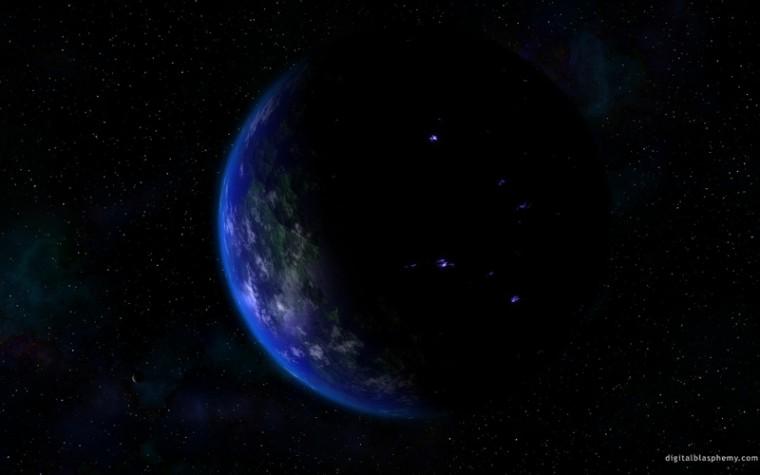 Blue Cool Blue Planet Space Planets HD Desktop Wallpaper