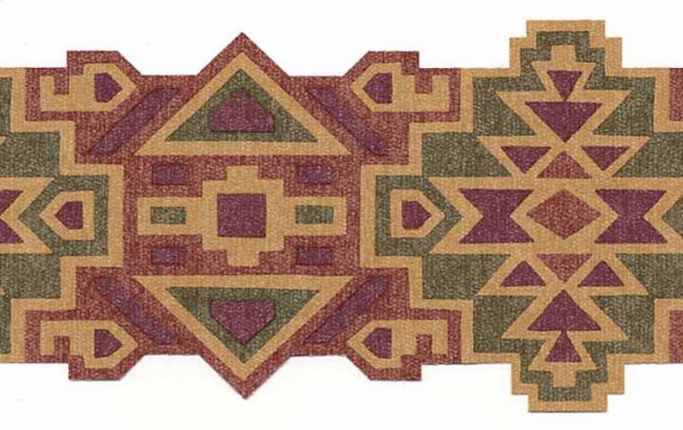 Southwestern aztec design wallpaper border mrl2412