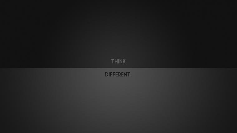 1920x1080 Minimalistic Think Different desktop PC and Mac wallpaper