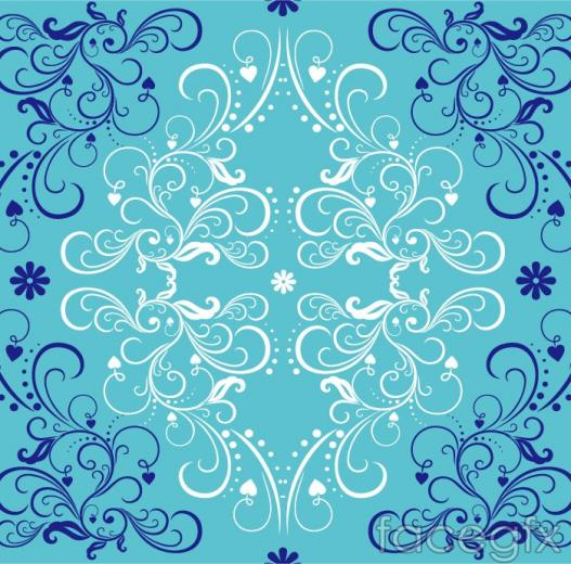 The Blue pattern background vector is a vector illustration and can be