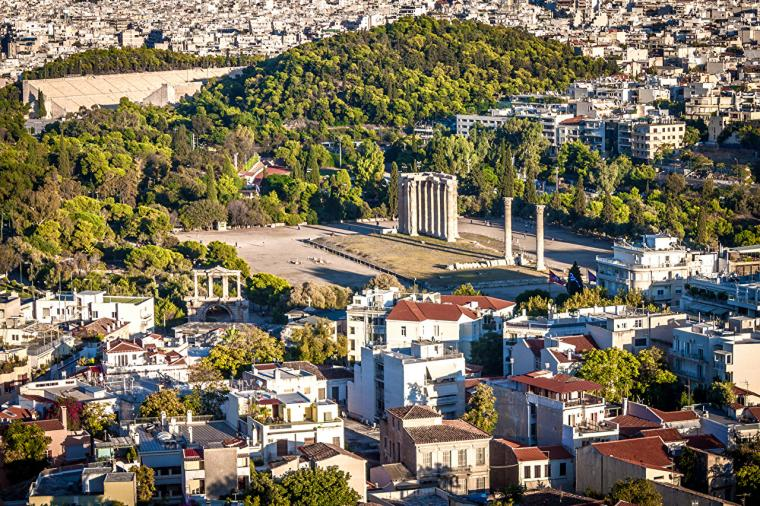 Wallpapers Greece Athens From above Cities Building