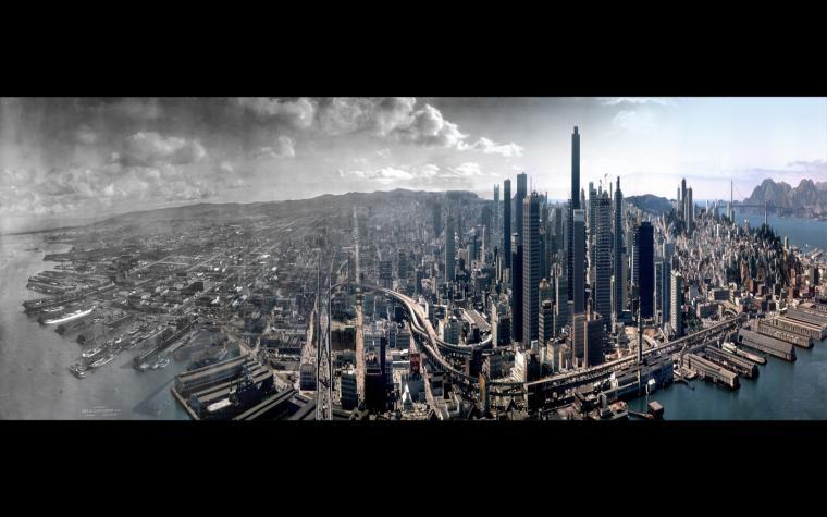 San Francisco timeline skyline wallpaper Thomas Ross Hallock