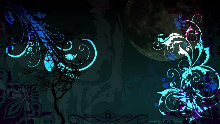 Teal Gothic Desktop Background 1366 x 768 px by CrystalKittyCat on