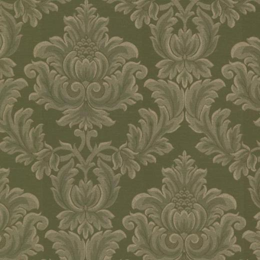 2601 20802 Green Damask   Oldham   Brocade Wallpaper By Mirage