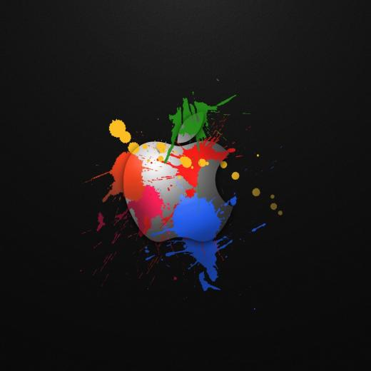 Apple In Colours iPad Wallpaper Download iPhone Wallpapers iPad