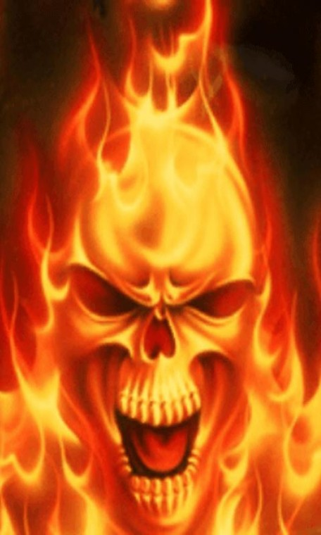 Android Phones Wallpapers Android Wallpaper Skull In Fire