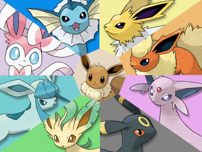 Wallpaper 2 Eeveelutions by xxrrsteve