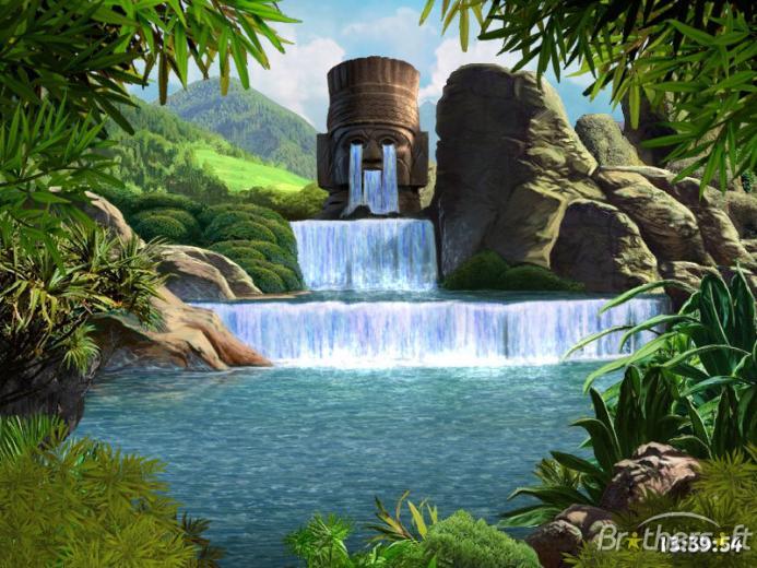 Download Waterfalls and Ancient Gods screensaver Waterfalls and
