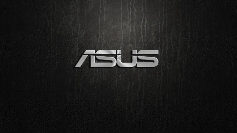 Asus silver logo on black background   HD wallpaper