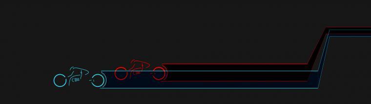 Tron cycles redux   dual screen [3840x1080] iimgurcom