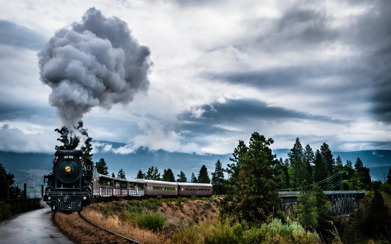 Sky Smoke Train wallpapers and images   wallpapers pictures photos